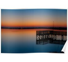 First Light at the lake Poster