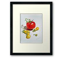Tomatoes Dance Framed Print