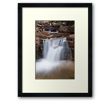 Waterfall along Fall River Road - Rocky Mountain National Park Framed Print