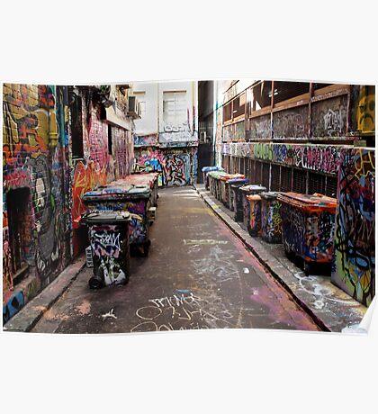 Graffiti Practice Lane Poster
