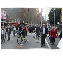 Crossing the city street Poster