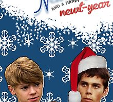 Merry Newtmas Greeting Card by thescudders