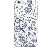 Summertime black floral seamless pattern  iPhone Case/Skin