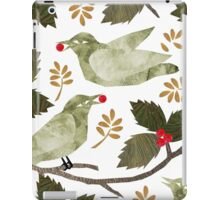 Birds and Holly iPad Case/Skin