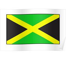 JAMAICA, JAMAICAN, Jamaican Flag, Flag of Jamaica, Caribbean, Island, Pure & Simple Poster