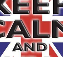 UNION JACK, BRITISH, FLAG, BLIGHTY, KEEP CALM & BUY A BEER, UK, ON BLACK Sticker