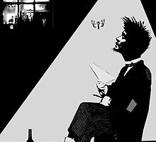 the poet & the moth by Loui  Jover