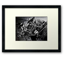 Working Horses Framed Print