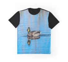Wild Mallard Bathed in Blue Graphic T-Shirt