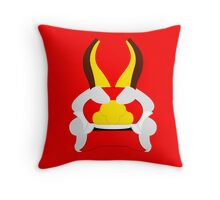 Minimalist King of Red Lions (Mascarón Rojo) Throw Pillow