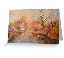 Autumn on the canal - West Hythe Greeting Card