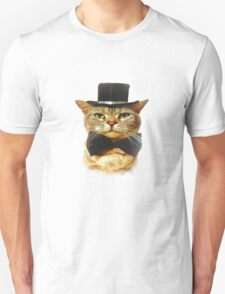 Top Hat Retro Cat Tee! T-Shirt