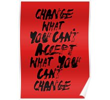 ACCEPT/CHANGE Poster