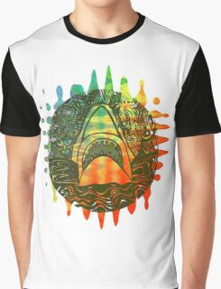 Multi coloured shark  Graphic T-Shirt