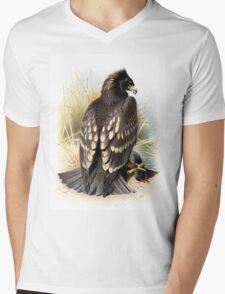Spotted Eagle illustration Mens V-Neck T-Shirt
