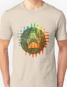 Multi coloured shark  Unisex T-Shirt