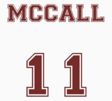 Scott McCall Jersey from Teen Wolf - Red Text T-Shirt
