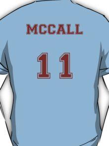 Scott McCall Jersey from Teen Wolf - Red Text T-Shirt