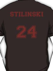 Stiles Stilinski Jersey from Teen Wolf - Red Text T-Shirt