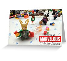 """Marvelous"" LEGO Holiday Card Collection Greeting Card"