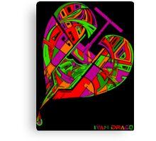 Love Flux in Colour Canvas Print