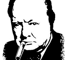 CHURCHILL, Sir Winston Leonard Spencer Churchill, Greatest War Leader by TOM HILL - Designer
