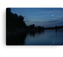 Moon over Barren River Lake Canvas Print