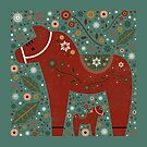 Jolly Dala Horse  by CarlyWatts