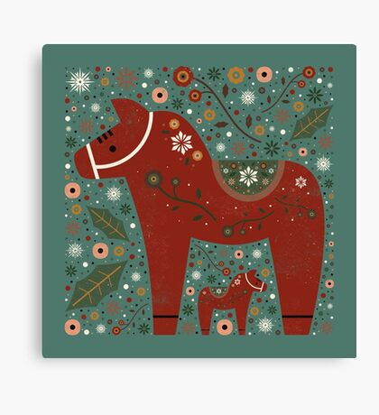Jolly Dala Horse  Canvas Print