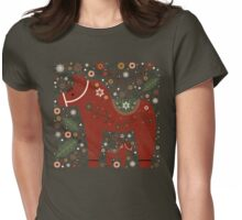 Jolly Dala Horse  Womens Fitted T-Shirt