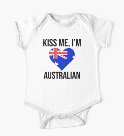 Kiss Me I'm Australian One Piece - Short Sleeve