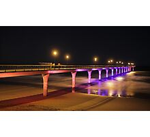 Midnight at the Pier - multi-colour Photographic Print