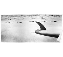 Single fin Surfboard Poster