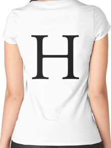 H, Alphabet Letter, Hotel, Henry, A to Z, 8th Letter of Alphabet, Initial, Name, Letters, Tag, Nick Name Women's Fitted Scoop T-Shirt