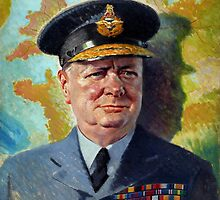 Winston Churchill In Uniform by warishellstore