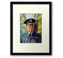Winston Churchill In Uniform Framed Print