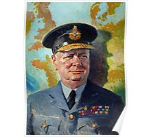Winston Churchill In Uniform Poster