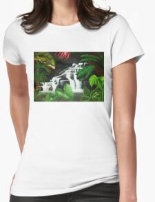 Waterfall Wilderness Womens Fitted T-Shirt
