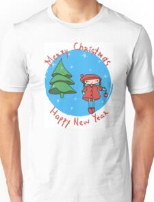 Girl with Christmas ball Unisex T-Shirt