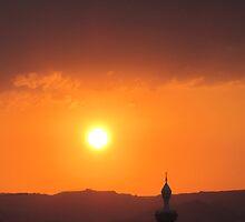 Sunset over Aqaba by Brad MacDuff