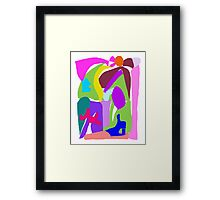 Fairy Tale Town Village Well Plaza King Queen Framed Print