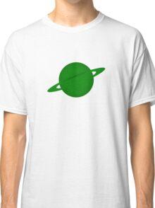 Ringed Green Planet Classic T-Shirt