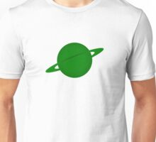 Ringed Green Planet Unisex T-Shirt