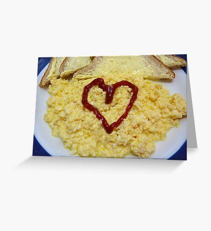 Scrambled Eggs Greeting Card