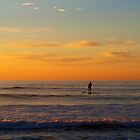 Lone paddleboarder I by geophotographic