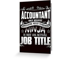Proud Accountant Greeting Card