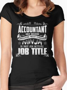 Proud Accountant Women's Fitted Scoop T-Shirt