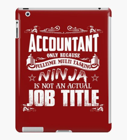 Proud Accountant iPad Case/Skin