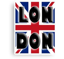 UNION JACK, LONDON, Brits, ENGLAND, IN COLOUR, UK, GB, Britain, BRITISH, Canvas Print