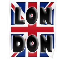 UNION JACK, LONDON, Brits, ENGLAND, IN COLOUR, UK, GB, Britain, BRITISH, Poster